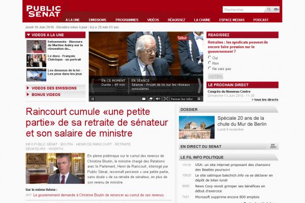 Public Sénat - Page d'accueil