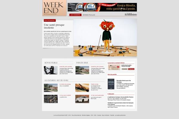Le nouvel Economiste - Site du supplément Week-end