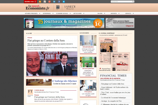 Le nouvel Economiste - Site internet du journal