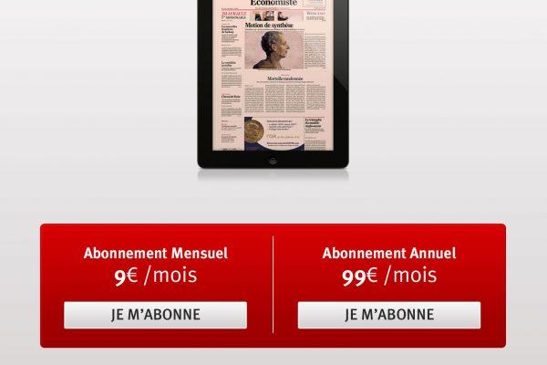 Le nouvel Economiste - Page d'abonnement de l'application iPad