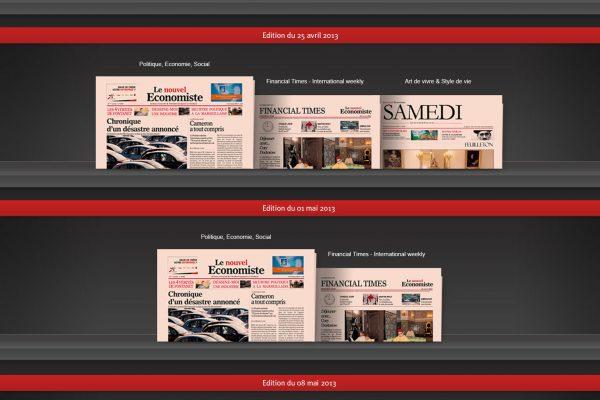 Le nouvel Economiste - Page d'accueil de l'application iPad
