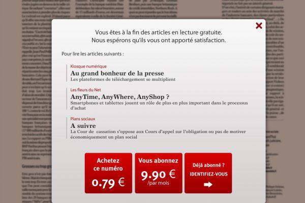Le nouvel Economiste - Ecran de paiement sur iPad