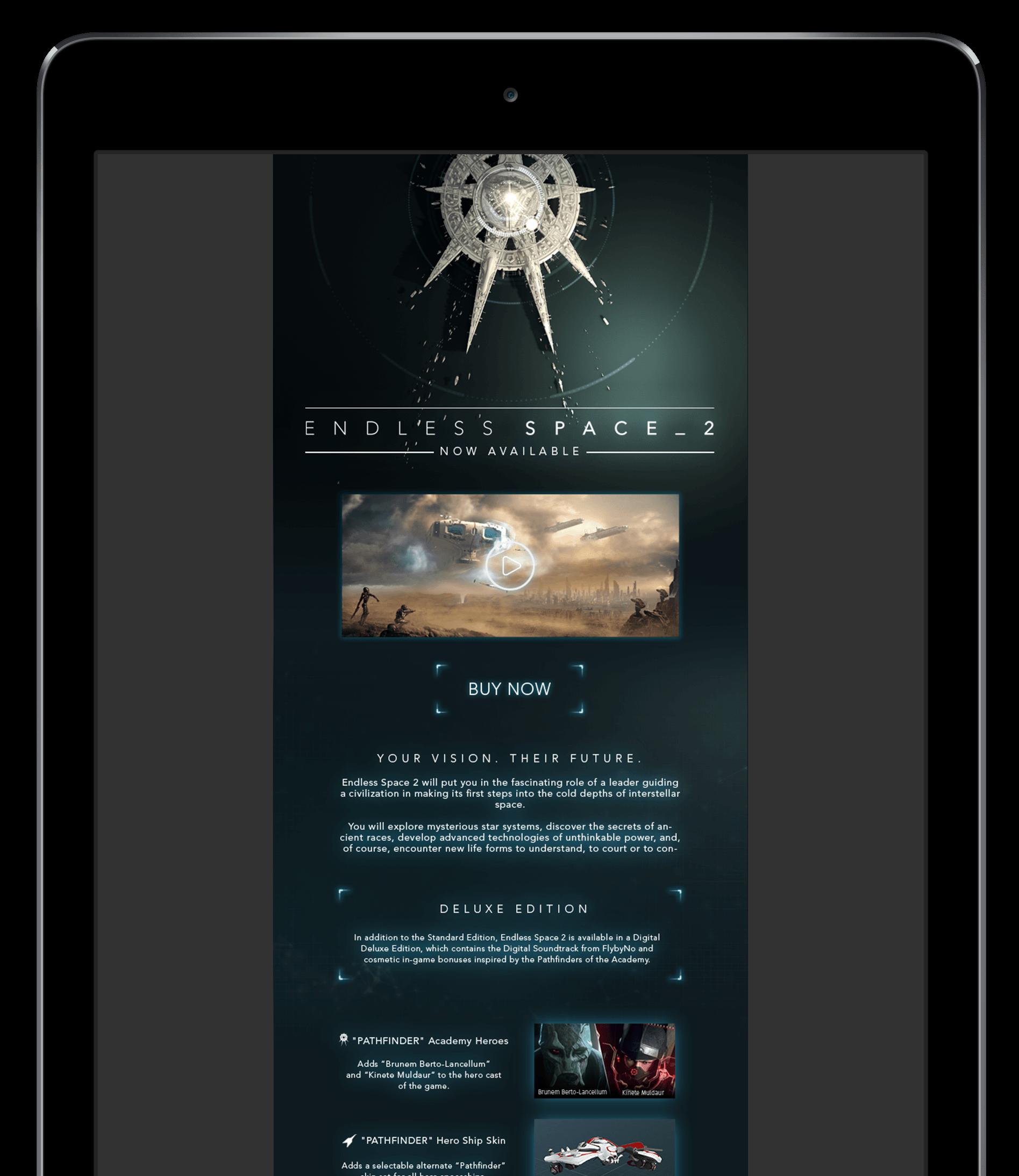 Infolettre pour Endless Space 2
