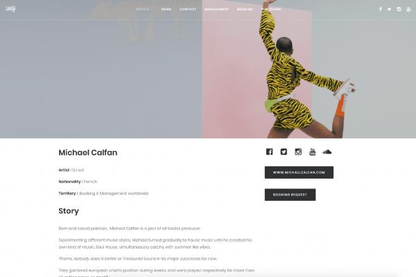 Unity Group - Page de Michael Calfan