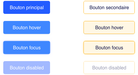 Site de recrutement - UI boutons